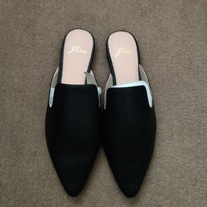 J. Crew leather slip on mule